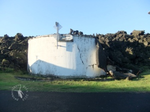 the old town water reservoirs, where the edge of the lava flow stopped
